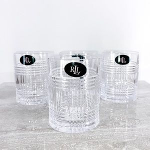 RALPH LAUREN Glen Plaid Double Old Fashioned Glass
